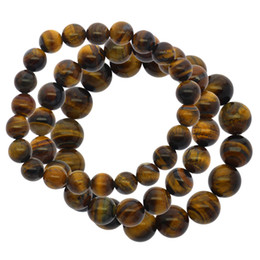 Yellow Gray Bracelet Australia - Fashion natural gemstone jewelry brown yellow tiger eye stone beads bracelet wholesale