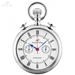 $enCountryForm.capitalKeyWord NZ - KS Retro Silver Case Roman Number Round Face Chains Quartz Chronograph Clock Men Collection Relogio Vintage Pocket Watch  KSP092 C19010301