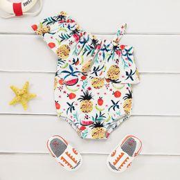$enCountryForm.capitalKeyWord Australia - Kids Swimsuit Baby Girls Swimwear Toddler Bathing Suit Fruits Beachwear Off Shoulder Swimsuit Children Swimming Costume