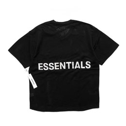 Mesh Fiber Australia - 2019 Hot Selling Fear of God 6th ESSENTIALS Highstreet Oversize Mesh t-shirt Summer FOG Vest basketball T-shirt