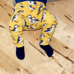 Gray Cotton Leggings Australia - Baby Pants Toddler Baby Boys Girls Kids Cute Cartoon Animal Elastic Waist Pants Leggings Clothes NDA84L24