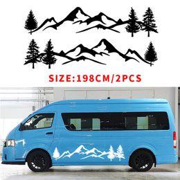 $enCountryForm.capitalKeyWord Australia - YONGXUN For Tree Decal Mountain Scene Large Northwest car sticker Vinyl Car Truck RV Toy Hauler Vehicle