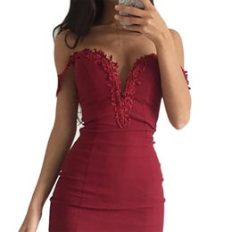 Sexy Lace Clothes UK - Women Summer Dress Sweetheart Neck Lace Slim Bodycon Party Clubwear Sexy Woman Mini Dress Female Vestido designer clothes