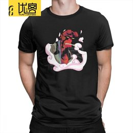 Wholesale stylish mens white t shirts online – design Hellboy Mens T Shirts Round Neck Short Sleeve Tees Unique Cotton Novelty T Shirts Big Size Funny Comic Stylish