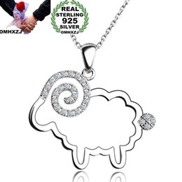 $enCountryForm.capitalKeyWord Australia - OMHXZJ Wholesale European Fashion Woman Girl Party Wedding Gift Sheep Zircon S925 Sterling Silver Necklace Pendant Charm CA146