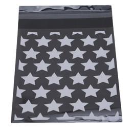 $enCountryForm.capitalKeyWord Australia - 8x10 +3 cm Star Design Adhesive Bag Cookies DIY Gift Bag For Christmas Wedding Party Candy Food Packing