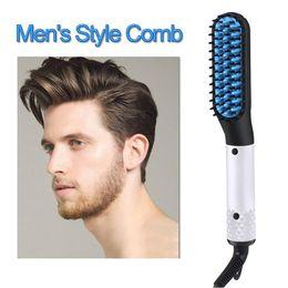$enCountryForm.capitalKeyWord Australia - Hair Straightener Brush Portable Women & Men Hair Styling Comb Ceramic Beard Straightener Comb Hot Tool Fast Hair Styler Machine