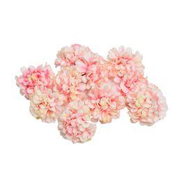 $enCountryForm.capitalKeyWord UK - 10pcs lot Artificial Flower Silk Hydrangea Flower Head For Wedding Party Home Decoration Diy Wreath Gift Box Scrapbook Craft