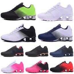 $enCountryForm.capitalKeyWord Australia - Cheap Fashion Shox R4 Mens Trainer Shox 809 Triple White Black Blue White Red White Silver Red Women Hot sale Sports Shoes
