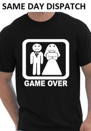 Funny Party Suits Australia - Game Over Fancy Dress T Shirt Stag Do Mens Funny Gift T Shirt Suit Wedding Party Funny free shipping Casual tshirt