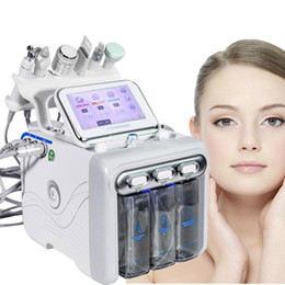 6 IN 1 Hydra Facial Machine RF Skin Rejuvenaiton Microdermabrasion Hydro Dermabrasion Bio-lifting Wrinkle Removal Hydrafacial Spa In Stock on Sale