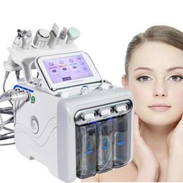 Toptan satış 6 İÇİNDE 1 Hydra Yüz Makine RF Cilt Rejuvenaiton Mikrodermabrazyon Hidro Dermabrazyon Biyo-kaldırma Kırışıklık Kaldırma Hydrafacial Spa In Stock