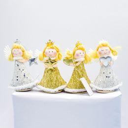 $enCountryForm.capitalKeyWord NZ - Christmas Decorations Standing Angel Doll Pendants Christmas Tree Hanging Ornaments New Year Gift Toys for Home SA157