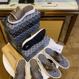 Discount b grade shoes - Original shoe box classic high-grade non-slip rubber outsole men's slippers high quality luxury shoes men's sa