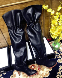 Wholesale Top quality Womens leisure fashion Boots luxury designer real leather lady high heels boot