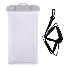 $enCountryForm.capitalKeyWord Australia - Transparent PVC Luminous Waterproof Phone Case Cover for iphone x Water Proof Underwater Bag for Phone6 All mobile Phone