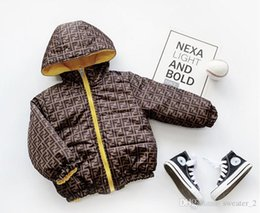 2020 GREA BABY Winter Brand Fashion Letter Print Children's Thick Double-sided Wearable Letter Print Children's Thick Double-sided Clothing