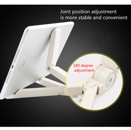 Discount foldable phone holder stand - Foldable Tablet Holder Desktop Phone Holder Stand Bracket Mount Adjustable for iPad Tablet Mobile Phone