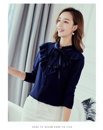 e6789128581de Primavera otoño 2019 Mujeres Camisa blanca Camisas de manga larga Blusas  coreanas Streetwear Blusa de gasa delgada Señoras elegantes Tops