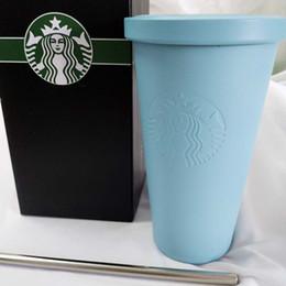 Nuovo Starbucks in acciaio inox tazza tazza classico desktop con il coperchio tazza di caffè paio sippy modo della tazza in Offerta