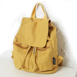 $enCountryForm.capitalKeyWord NZ - Fashion Casual Canvas Shoulder Bag Women Backpack School Bags for Teenagers Girls Top-handle Backpacks Book Bag