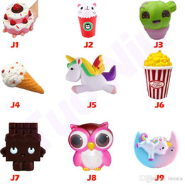 Strawberry chocolateS online shopping - Squishy Toy Strawberry Cake ice cream chocolate owl squishies Slow Rising Soft Squeeze Cute Strap gift Stress children toys