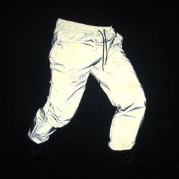 $enCountryForm.capitalKeyWord NZ - Reflective Pants Men 2017 Brand Hip Hop Dance Fluorescent Trousers Casual Harajuku Night Sporting Jogger Pants Gray S418