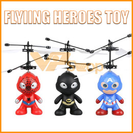 Toy airplane flies online shopping - Flying Heroes Toy Batman Spiderman Captain America Flying Aircraft Helicopter Toys Infrared Induction Drone RC Airplane for Christmas Gifts