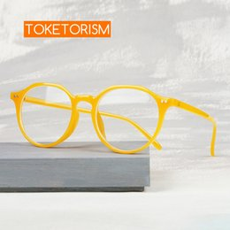 yellow blocks Canada - Toketorism trendy yellow frame oversized anti blue glasses woman man blue light blocking eyeglasses