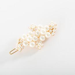 $enCountryForm.capitalKeyWord Australia - Maxi Korean online celebrity ins style imitation pearl flower hairpin Harajuku style retro frog clip hair accessories