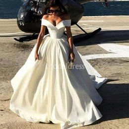 Country models online shopping - Arabric Wedding Dresses Off Shoulder Sweep Train Country Style Castle Chapel Bridal Gowns Stylish Plus Size Vestidoe De Noiva Custom