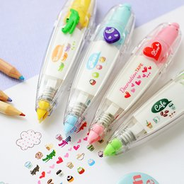 Correction Pens Australia - Heart Press Type Decorative Pen Correction Tape Cake Animals Diary Scrapbooking Stationery School Supplies Students Gifts
