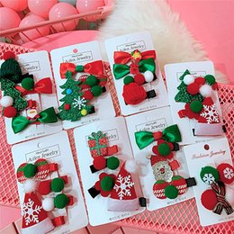 $enCountryForm.capitalKeyWord NZ - Hot Sale and Brand New Fashion Autumn Winter Lovely Christmas Package Hair Card Candy Santa Baby Duck Mouth Clip