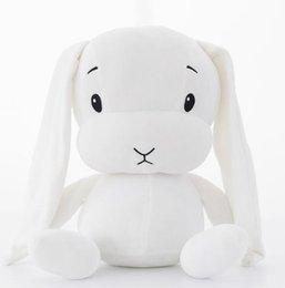 Boy Toy Doll Videos Australia - Easter Rabbit lucky boy sunday 30cm cute rabbit plush toy stuffed soft rabbit doll baby kids toys animal toy birthday gift