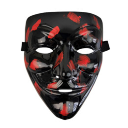 $enCountryForm.capitalKeyWord UK - 2019 Black V for Vendetta Mask Cosplay Costume Accessory Anonymous Movie Guy Fawkes Halloween Masquerade Party Horror Type Masks