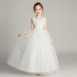 Qualitäts-Großhandel Baby Hochzeit bodenlangen Ärmel Kleider der Blumen-Mädchen-Partei-Abschlussball-Kleid-Kind-Sommer-Kleider BX683 im Angebot
