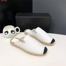 Ladies Soft Canvas Shoes Australia - Classic women slipper Casual canvas shoes Straw Wovening Sole Summer living at home Shoes for Ladies Size 34-42