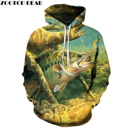 boys hoodies sale UK - Hot Sale Fish Hoodies 3D Hoodies Sweatshirts Men 3d Pullover Funny Print Tracksutis Casual Coats Boy Streetwear Male Outwear NewMX191011