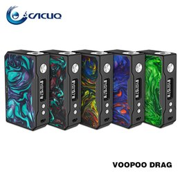 Discount color mods - Authentic Voopoo DRAG 157W TC Box MOD Fastest Fire Speed VOOPOO Drag Mod Powered by Dual 18650 Batteries 100% Original B
