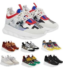 casual shoes italy 2019 - 2019 Designers Chain Reaction Casual Shoes Sneakers Mens Women Man Woman Red Italy Fashion Luxury Brand Link-Embossed So