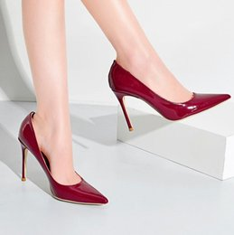 Discount pink stilettos shoes size 43 - 2019 in Free shopping ! Spring new European and American pointed shallow mouth stiletto super high-heeled large size wom
