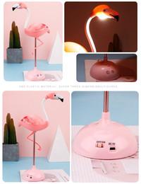 Wholesale LED Flamingo Night Light Touch Reading Table Lamp for Children USB Charging Living Room Bedroom cartoon baby Decor Light Lighting FFA3765-2