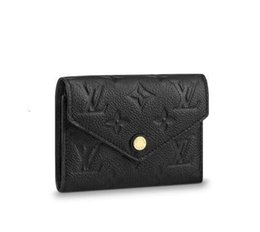 exotic leather wholesale Canada - Victorine Wallet M64060 New Women Fashion Shows Exotic Leather Iconic Bags Clutches Evening Chain Wallets Purse