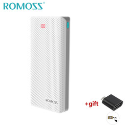 External Power Supply For Phone NZ - ROMOSS 20000mAh Pover Bank Dual USB Port LED Powerbank Charger Fast Charging Power Supply for Mobile Phones External Battery