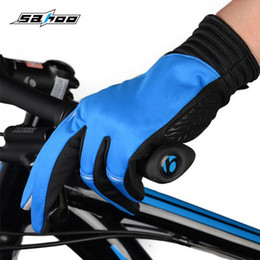 Road Bicycle Gloves Australia - SAHOO Cycling Gloves Touch Screen Bike Sport Shockproof Gloves For Man Woman MTB Road Bicycle Full Finger Phone Glove