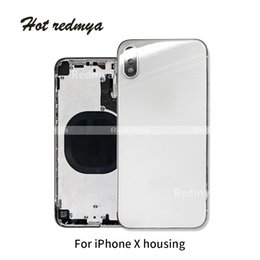 "iphone rear chassis Australia - IX 5.8"" Battery Cover For iphone X Back Middle Frame Chassis Full Battery Back Housing Door Rear Cover Body Assembly"