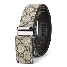 snake belts for men 2019 - Fashion Brand Designer Belts for Men Famous Plaid White Belts Leather Automatic Buckle Belt Casual Waist Snake Belts che