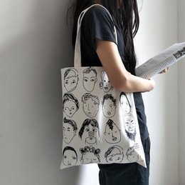 $enCountryForm.capitalKeyWord Canada - Canvas Shopping Eco Reusable Foldable Shoulder Bag Handbag Tote Casual Shoulder School Travel Women Folding big capacity bag