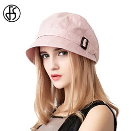 visor beach hats for women Australia - wholesale Fashion Cotton Sun Hat For Women Summer Outdoor Foldable Beach Hats Blue Pink Dark Gray Wide Brim Casual Visor Caps Femme