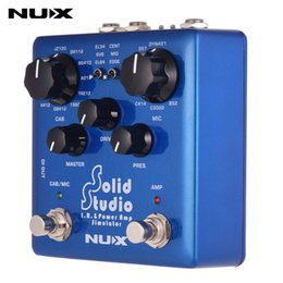 Footswitch Pedal Australia - NUX Solid Studio IR Power Amp Simulator Guitar Multi Effects Pedal Dual Footswitch Built-in 8 Cabinet 8 Microphone True Bypass